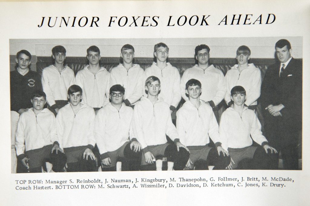 Steve Reinboldt, pictured at upper left in a 1969 Yorkville, Ill., High School yearbook, told his sister that Hastert sexually abused him. (Tom Williams/CQ Roll Call)