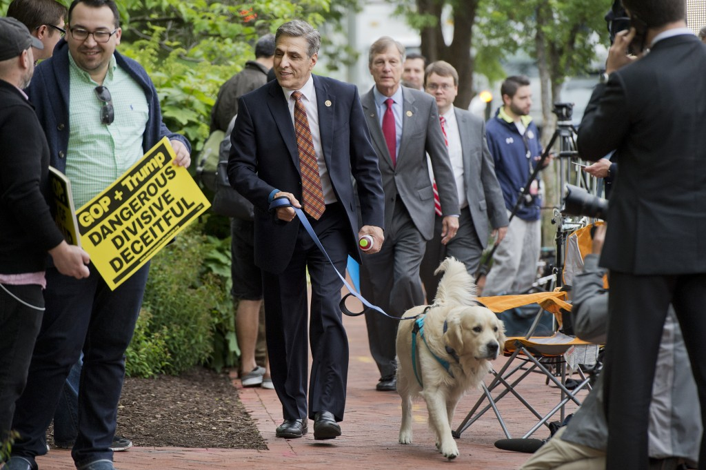 Rep. Lou Barletta, R-Pa., walks his dog