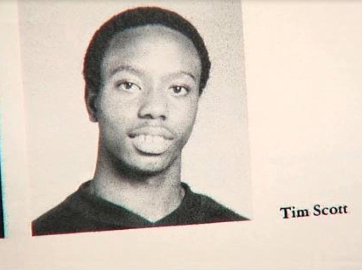 Tim Scott as a High School student in South Carolina. (Courtesy Sen. Tim Scott's Senate office)