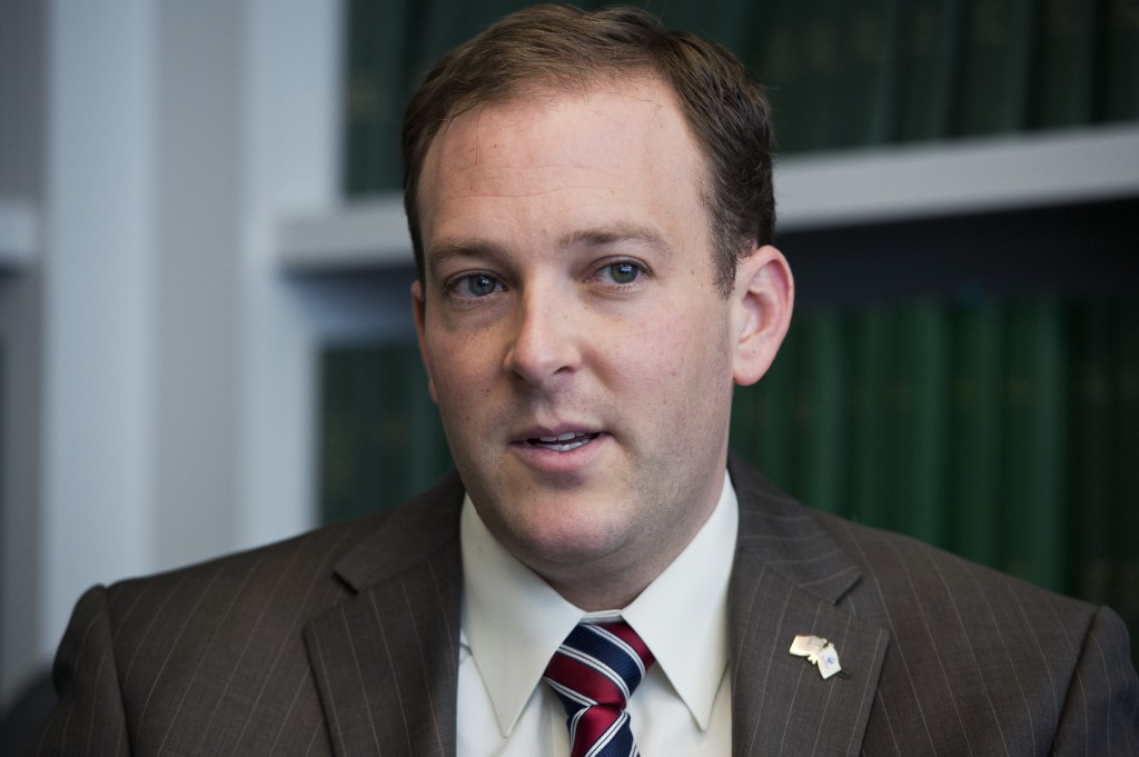 Freshman Rep. Lee Zeldin has embraced Donald Trump's candidacy, something Democrats are hoping to use against him. (Tom Williams/CQ Roll Call file photo)