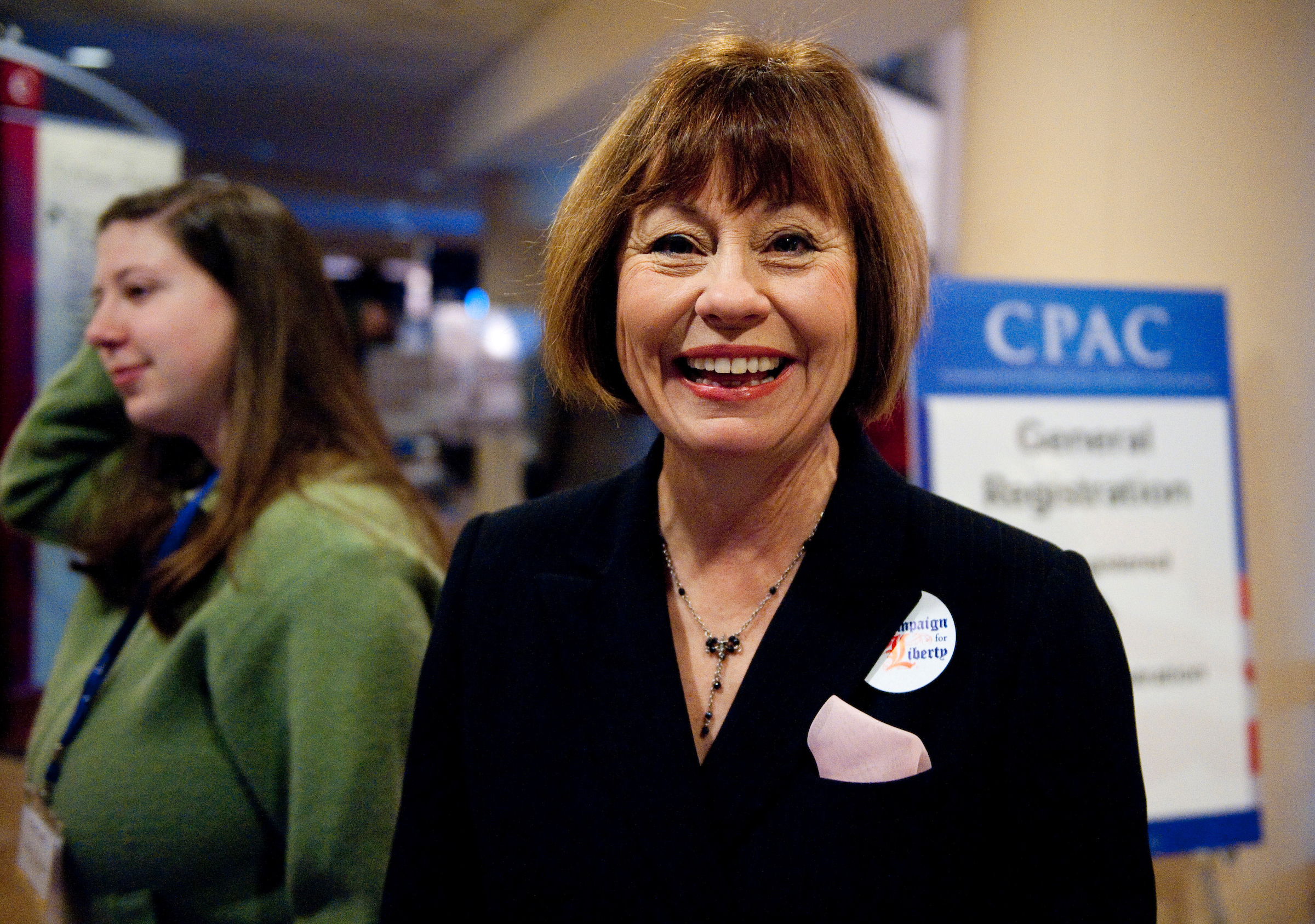 UNITED STATES - FEBRUARY 10: Former Senate candidate Sharron Angle, R-Nev., arrives for the CPAC meeting, held by the American Conservative Union in Washington on Thursday, Feb. 10, 2010. (Photo By Bill Clark/Roll Call)