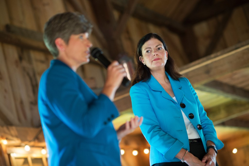 Campaigning with Ayotte at a