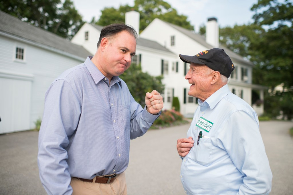 Former state Rep. David Scott, right, calls Guinta's FEC woes
