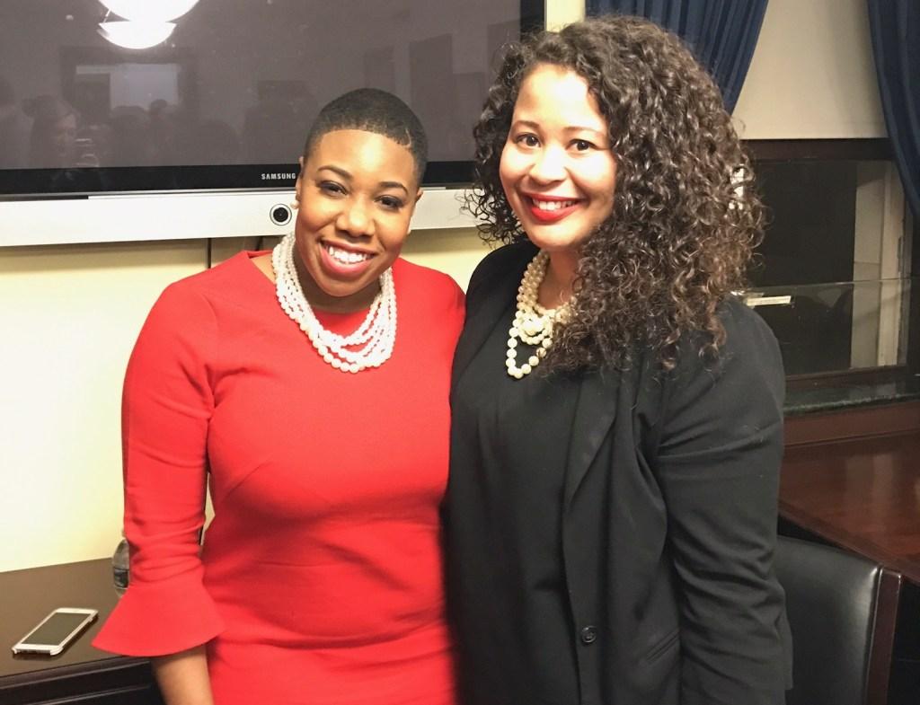 Sanders, left, and Elizabeth-Burton Jones, press secretary to Virginia Rep. Scott Rigell. (Courtesy of Women's Congressional Staff Association)
