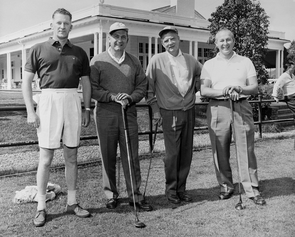 Michel golfing with others in 1966. (CQ Roll Call Archive Photo)