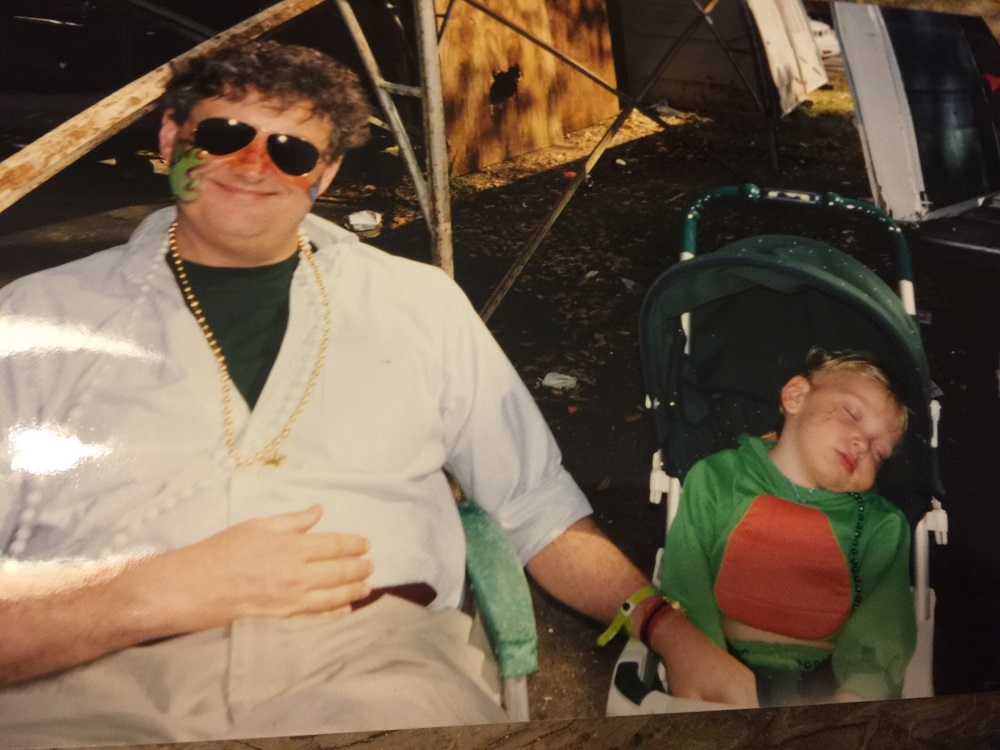 Sen. John Kennedy, left, and his son, Preston in 1999 in New Orleans. (Photo courtesy of Kennedy's office)