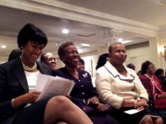 From left: DC Mayoral Candidate Muriel Bowser, Rev. Girton Mitchell, Ambassador Carol Moseley Braun, during the Top Ladies of Distinction awards ceremony Thursday night. (Clark Mindock / CQ Roll Call)