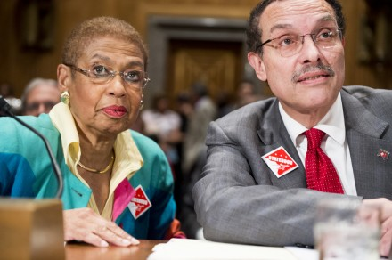 Norton, left, and Gray led the charge among witnesses arguing for statehood. (BIll Clark/CQ Roll Call)