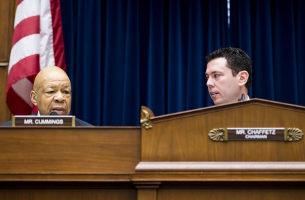 Ranking member Cummings, left, and Chairman Chaffetz, right, head the Oversight and Government Reform Committee. (Photo By Bill Clark/CQ Roll Call File Photo)