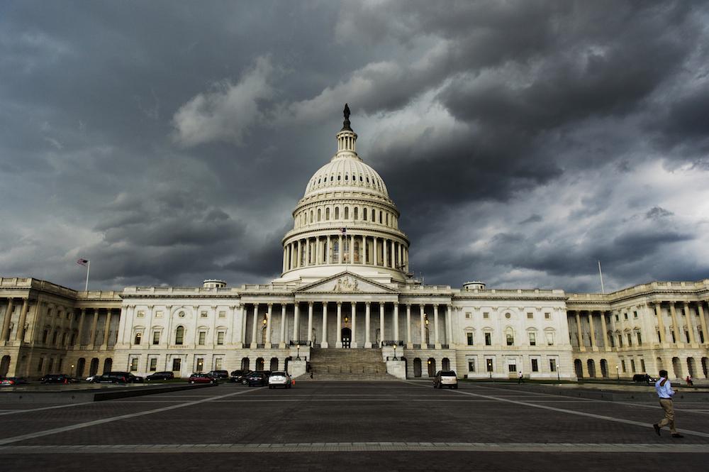 Storm Clouds Capitol Photo