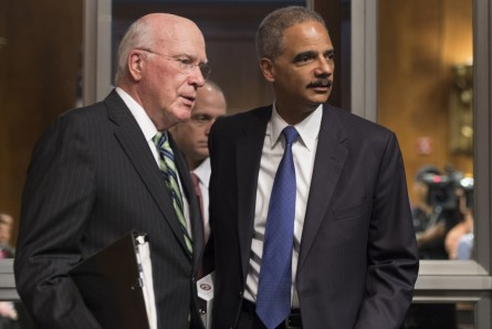 leahy holder 119 061212 445x298 Eric Holder to Resign (Updated)