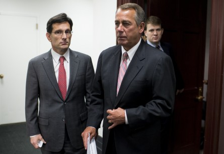 boehner 144 0312141 445x307 Cantor Says House Budget Will Conform to Spending Limits (Updated)