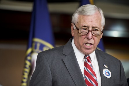 UNITED STATES - JULY 30: House Minority Whip Steny Hoyer, D-Md., speaks during the House Democrats' news conference to discuss Republican lawsuit against President Obama and the House Democrats' focus on the economy on Wednesday, July 30, 2014. (Photo By Bill Clark/CQ Roll Call)