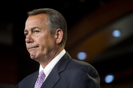 UNITED STATES - DECEMBER 4: Speaker of the House John Boehner, R-Ohio, speaks during his weekly press conference on Thursday, Dec. 4, 2014. (Photo By Bill Clark/CQ Roll Call)