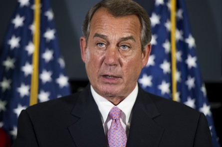 Boehner says it's been a strange couple of weeks in the House. (Tom Williams/CQ Roll Call)