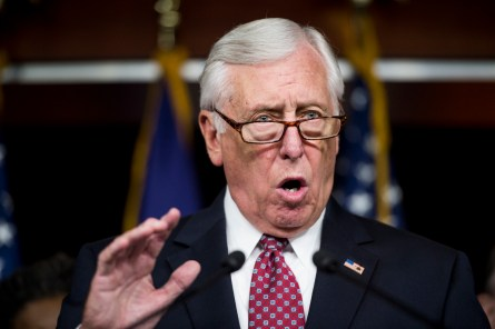 Hoyer, D-Md., speaks during a press conference with House Democrats on the Export-Import Bank in the Capitol on Thursday, June 4, 2015. (Photo By Bill Clark/CQ Roll Call)
