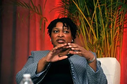 WASHINGTON, DC - MARCH 03:  Georgia House Minority Leader Stacey Abrams speaks at a panel during EMILY's List 30th Anniversary Gala at Washington Hilton on March 3, 2015 in Washington, DC.  (Photo by Kris Connor/Getty Images for EMILY's List)