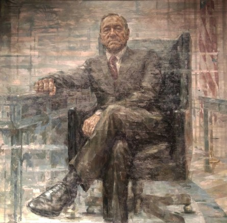"""The presidential portrait of """"House of Cards"""" protagonist Francis J. Underwood is expected to be on display in the National Portrait Gallery from February through October 2016. (Warren Rojas/CQ Roll Call)"""