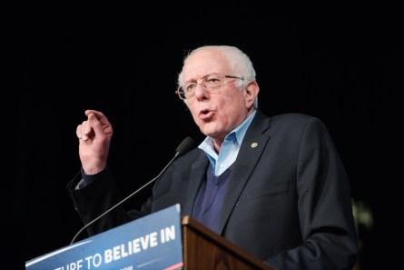Presidential candidate Bernie Sanders in N.H. last month. (Meredith Dake-O'Connor/CQ Roll Call)