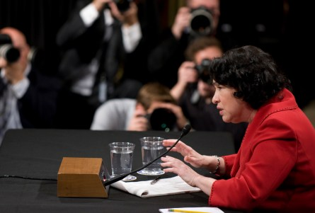Sotomayor has changed her views on cameras in the courtroom since her 2009 confirmation hearings. (CQ Roll Call File Photo)