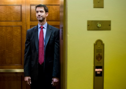 Cotton heads to the Senate amid the Iran debate. (Bill Clark/CQ Roll Call)