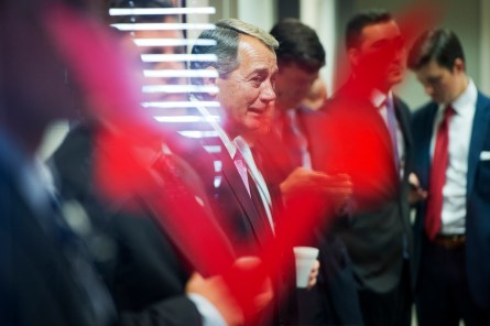 Boehner is demanding party loyalty to deliver a victory on procedural rules. (Tom Williams/CQ Roll Call)