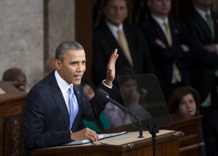 Once more with feeling. Obama is preparing his last State of the Union Address. (CQ Roll Call File Photo)
