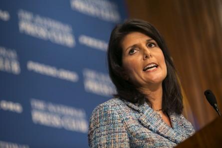 UNITED STATES - September 2: South Carolina Gov. Nikki Haley speaks during a luncheon on her
