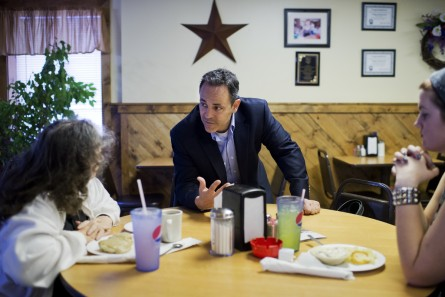 Bevin, shown during his unsucessful Senate race in 2014, is far more popular in Kentucky than inside the Beltway. (CQ Roll Call File Photo by Tom Williams)