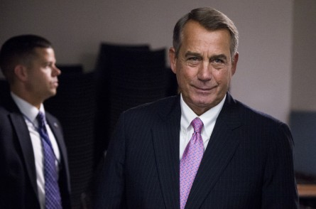 UNITED STATES - SEPTEMBER 29: Speaker of the House John Boehner, R-Ohio, leaves the House Republican Conference meeting in the basement of the U.S. Capitol on Tuesday, Sept. 29, 2015. (Photo By Bill Clark/CQ Roll Call)