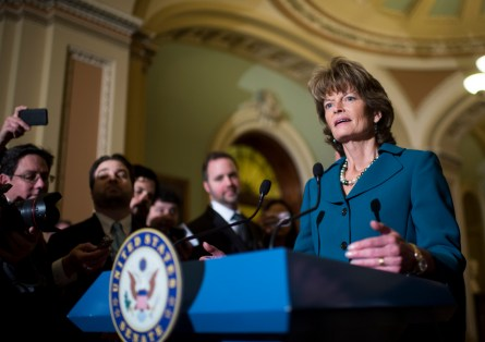 Murkowski led the fight for the Keystone XL pipeline on the Senate floor — one area where the Alaska and Hawaii delegations parted ways. She's trying to bring the delegations together. (Bill Clark/CQ Roll Call)