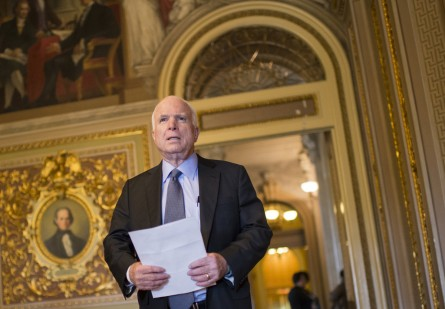 McCain ripped reports of a possible extension in the Iran nuclear deal deadline. (Bill Clark/CQ Roll Call)