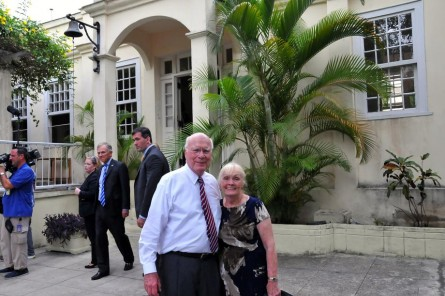 Leahy and his wife, Marcelle, pictured in front of Ernest Hemingway's residence. (Courtesy Sen. Leahy)