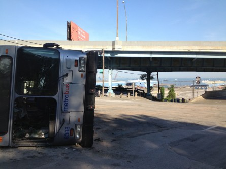 That's the Port of Cleveland in the background of this blown up D.C. Metro bus. (Jason Dick/CQ Roll Call.)