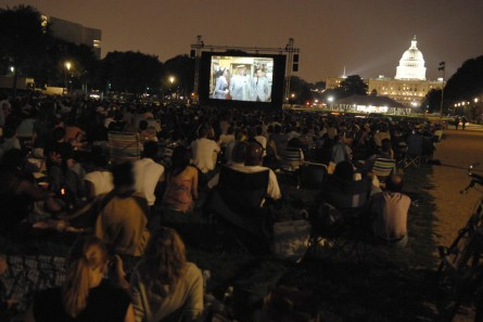 Screen on the Green on the National Mall is a summer tradition in Washington. (CQ Roll Call File Photo.)