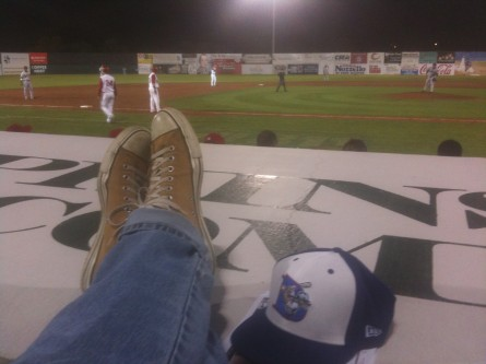 The vibe is relaxed at Falcon Park, home of the Auburn Doubledays. (Jason Dick/CQ Roll Call.)