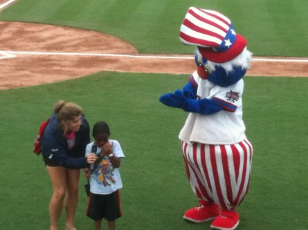 Not all fans are enthralled with Uncle Slam, the Potomac Nationals' mascot. (Jason Dick/CQ Roll Call.)