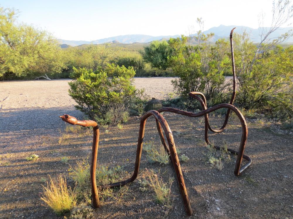 An artistic bike rack along the trail. (Jason Dick/CQ Roll Call)