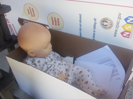 Baby doll prop