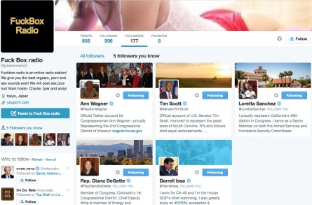 Why Are Members of Congress Following a Salacious Twitter Feed?