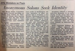 Anonymous Solons Seek Identity
