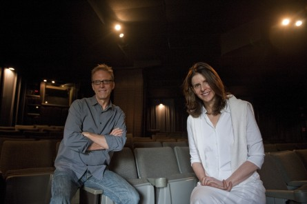 Filmmakers Kirby Dick, left, and Amy Ziering promoted their film