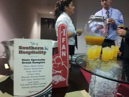 Alabama Slammer station at Taste of Southern Hospitality reception