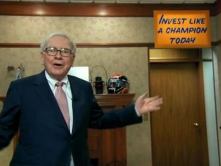 Warren Buffett inspirational signage