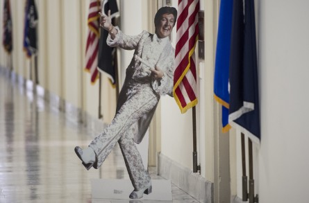 A cutout of Liberace graces the corridor outside's Titus' Cannon office. (Bill Clark/CQ Roll Call File Photo)
