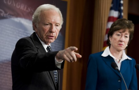 Lieberman and Collins Play Truth or Dare With Secret Service