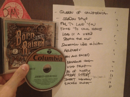 Born and Raised record and track list
