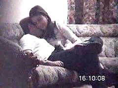 Hot Asian Girl Gets Fucked By Her Man On Couch Amateur homemade