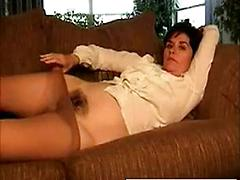 Home Made Action As Mature Slut Spreads Her Hairy Twat Hairy masturbating mature