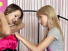 Young girls are not against to have some lesbian fun for the first time Babes beauty blondes
